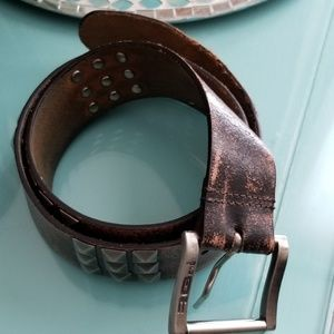 Accessories - Studded leather belt